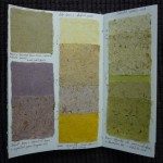 Handmade paper sample book