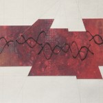 DNA Shift: Handmade paper with etched DNA spiral